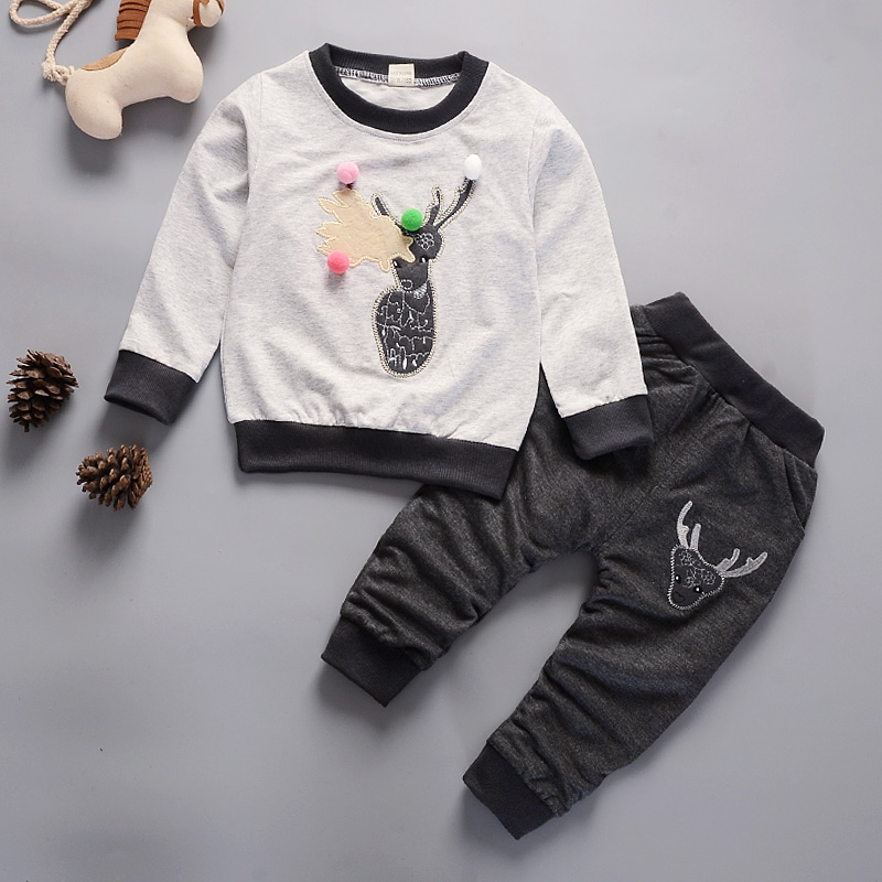 Bibicola baby boys clothes sets spring autumn cartoon leisure tops + pants newborn baby girl clothes kids bebes suits
