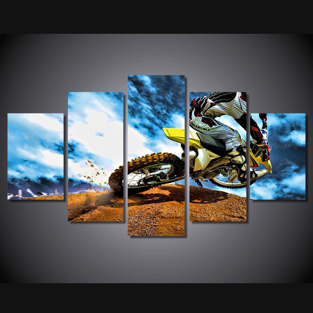 2017 Hd Printed Best Motocross Painting Canvas Print Room Decor Picture No Frame