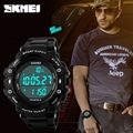 SKMEI brand men sports watches Pedometer watch digital LED Electronic quartz watches 50M waterproof swimming watch man watches