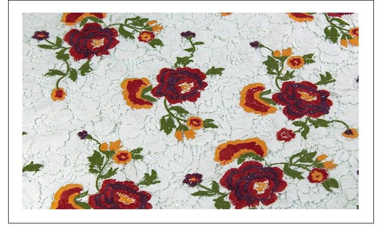 Haut de gamme marque lourde voiture fil dentelle tissus teints brodés bricolage robe de mariée tissu tissu - 5