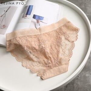 Image 3 - BIAORUINA Sexy Panties Komfortable Briefs Exquisite 4 Stück Shorts Solide Dessous Sexy Spitze Aushöhlen Atmungsaktive Unterwäsche