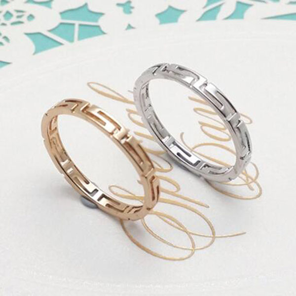 Fashion Hollow Great Wall Pattern Knuckle Tail Ring G Small Rings Female Fine Jewelry