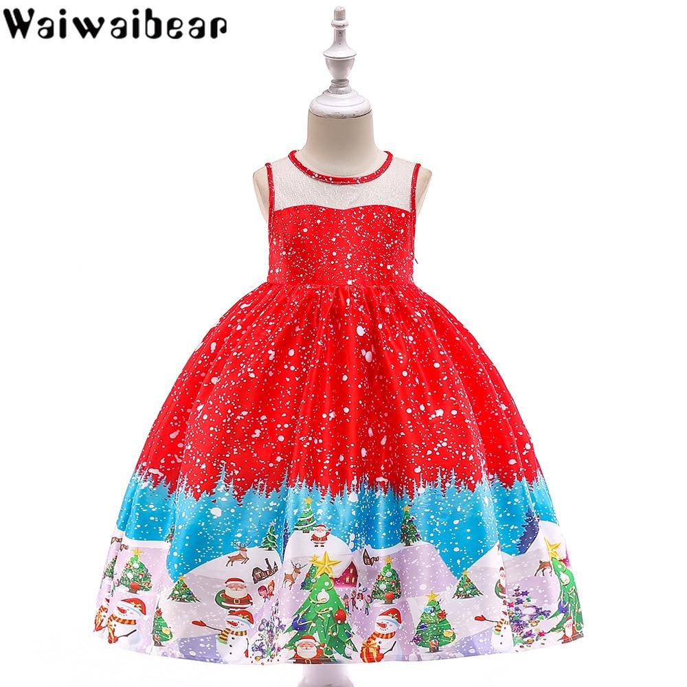 Baby Kids Dresses Christmas Dress Girls Short Sleeve Princess Ball Gown Clothes