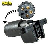 TIROL T24508a 6 Weg Runde Pin zu 4 Way Flach Anhänger Verdrahtung Adapter Trailer Licht Stecker für UNS Anschluss RV boot Kostenloser Versand-in Anhängerkupplungen & Zubehör aus Kraftfahrzeuge und Motorräder bei