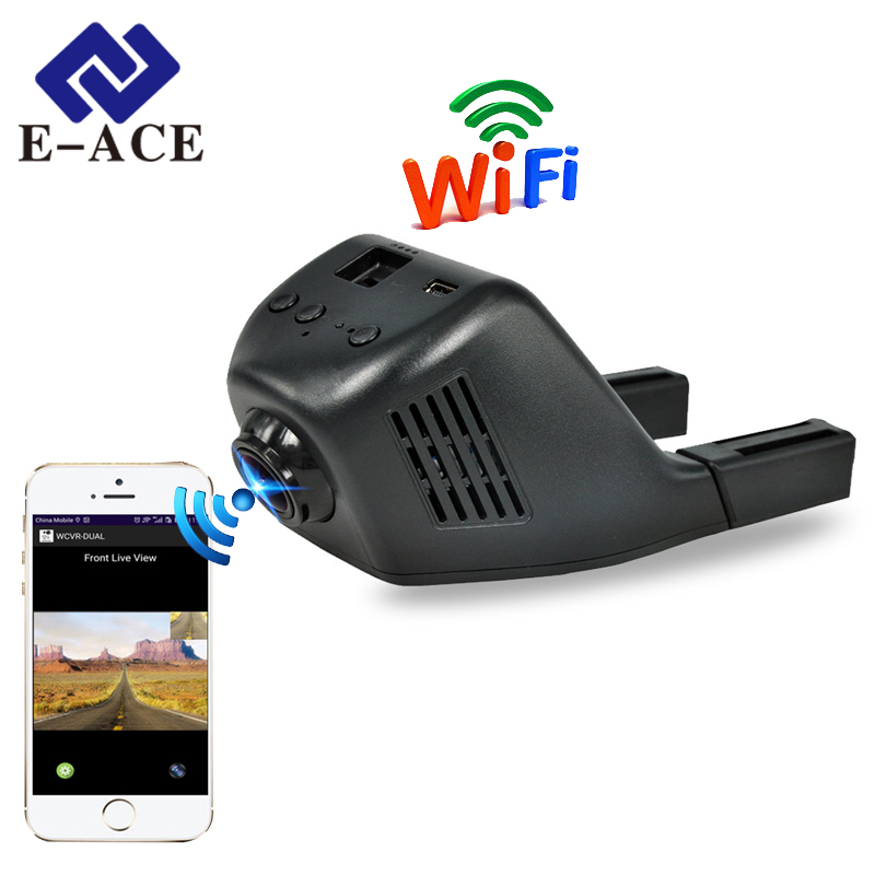 E-ACE Dash Cam Camcorder Camera Dvrs Car-Dvr Auto-Registrator WIFI Digital Night-Version