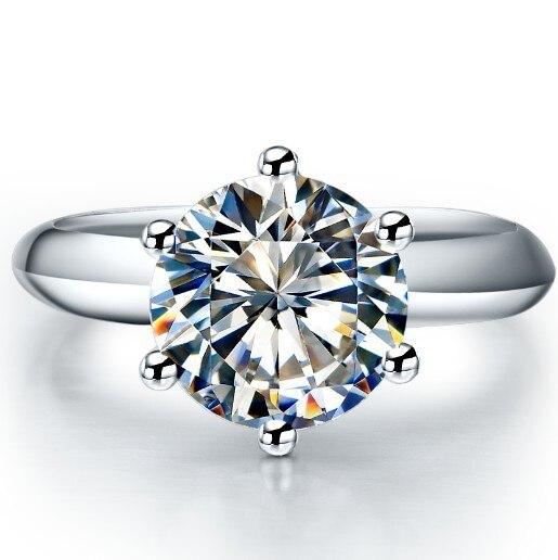 3 CT diamond halo ring D VVS1 engagement wedding 14k white gold silver bridal