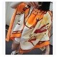 Высокое качество 100% шелковый шарф мода шарф женщин сетки / покер / жираф печатных дизайн большой косынка женская волосы шарфы