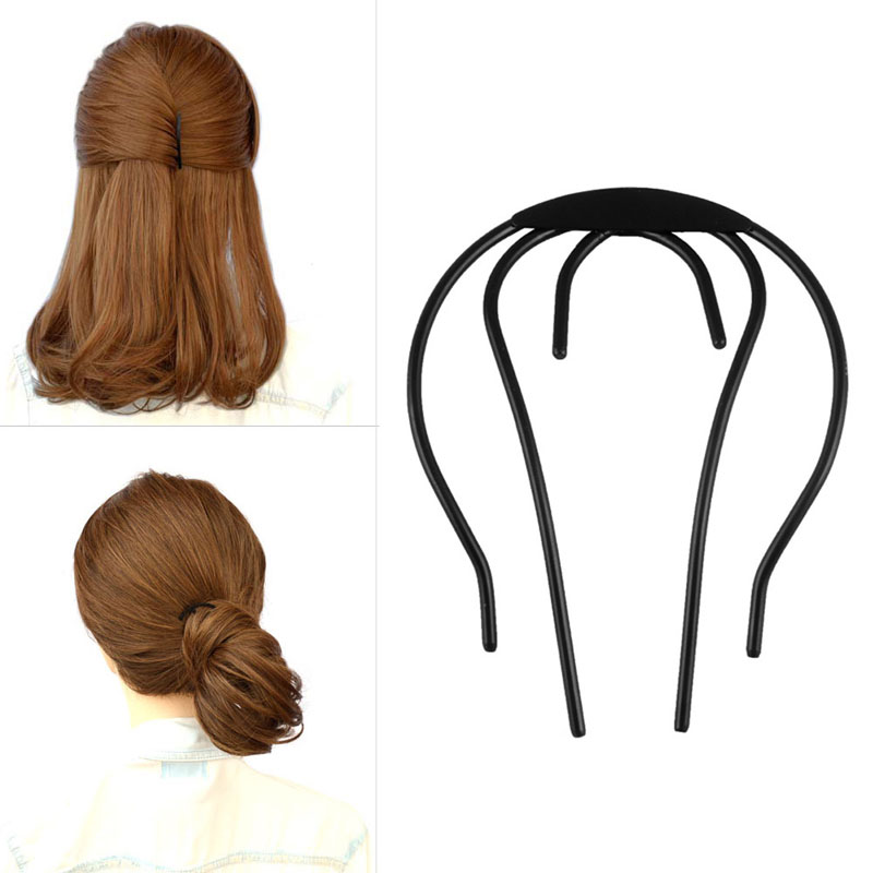 Women Chic Bun Hairstyle Ornaments Braider Bow Hair-Plug Disk Hair Accessories стяжка autoprofi bun 08