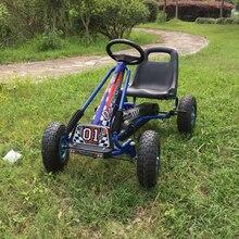 Детская воздушная колесная педаль go kart со стальной рамой и ручным тормозом EN71 была одобрена