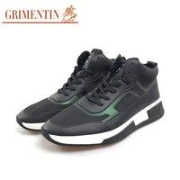 Гриментин мужские Повседневная кожаная обувь Хай стрит дизайнерская обувь для отдыха Модная классика, из натуральной кожи, с оформлением и