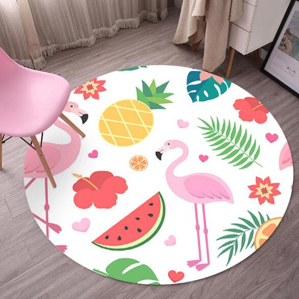Discreet Lovely Cartoon Round Carpet Bedroom Computer Chair Rotary Chair Hanging Basket Bench Yoga Mat Free Shipping Home Textile