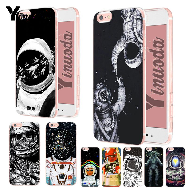 Yinuoda Newest Space Moon Astronaut Pattern Top Detailed Popular Phone Case For Iphone Xs Max 8 7 6 6s Plus X Xs Xr 5 5s Se Punctual Timing Phone Bags & Cases Cellphones & Telecommunications