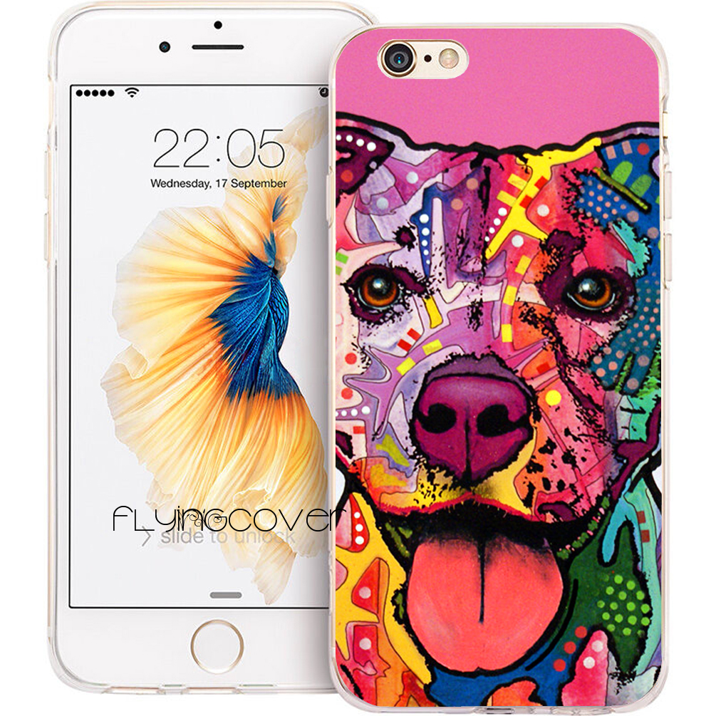 Coque The Pitbull Dog Clear Soft TPU Silicone Phone Cover for iPhone X 8 7 Plus 5S 5 SE 6 6S Plus 4S 4 5C iPod Touch 6 5 Case