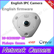 English DS-2CD6332FWD-I 3MP Full HD 1080P PoE WDR Panorama 360 Degree Fisheye e-PTZ Dome Network IP Camera Micro SD Memory