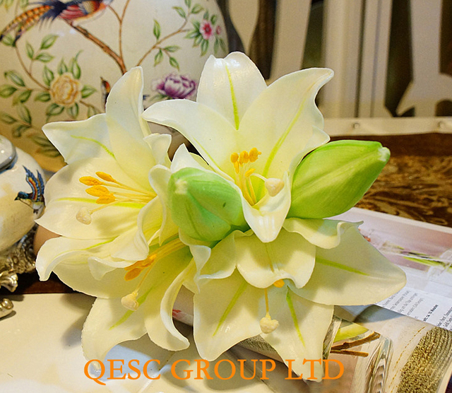 Lilies artificial flowers flower buds silk flower for fascinator lilies artificial flowers flower buds silk flower for fascinator bridal hair accessory home decor wedding mightylinksfo Image collections