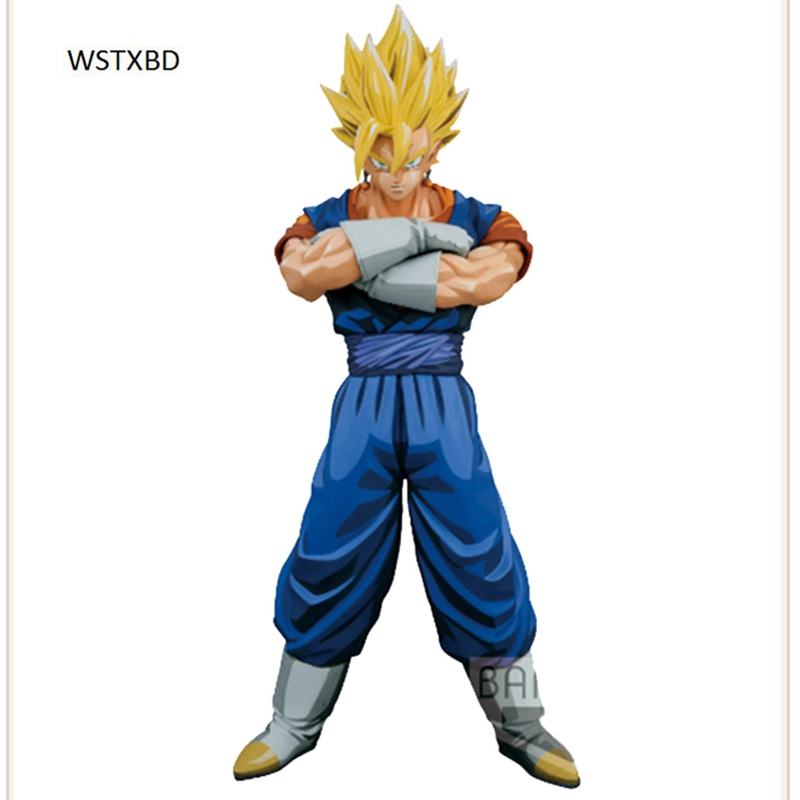WSTXBD BANPRESTO Original Dragon ball Z DBZ MSP Vegetto Manga Color PVC Figure Toys Figurals Model Dolls Brinquedos wstxbd banpresto original dragon ball z dbz smsp goku manga color pvc figure toys figurals model dolls brinquedos