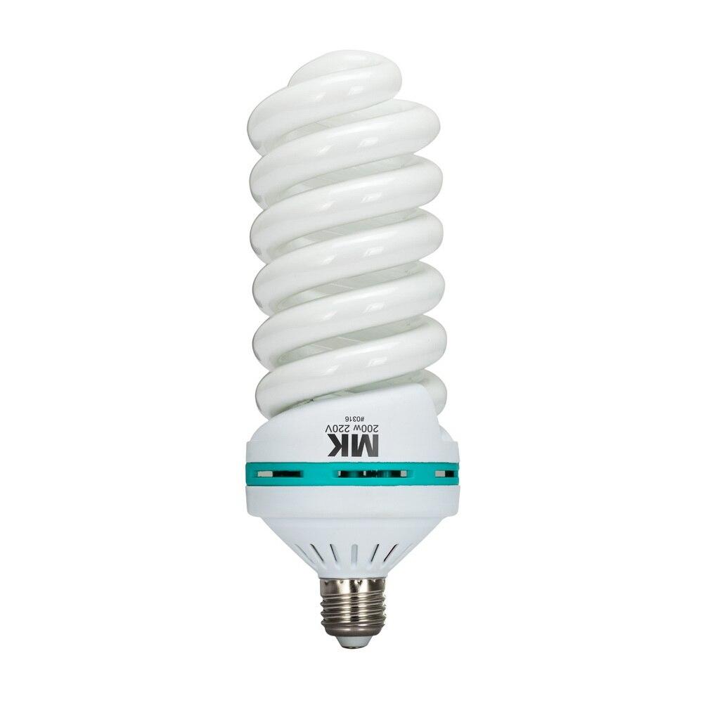 200W 5500K E27 220V CFL Blub For Photographic Softbox Studio Lighting Equipment 92% CRI