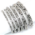 4mm 5mm 6mm 7mm 8mm 10mm Men Chain Silver Tone 316 Stainless Steel 22cm Byzantine Box Link Necklace Bracelet
