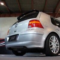Golf 4 ABT Стиль углеродного волокна задний спойлер для Volkswagen VW MK4 хэтчбек 1997 2004