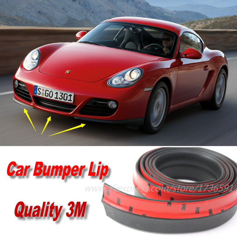 Car Bumper Lips For Porsche Cayman 987C 981C Auto Car Front Lip Deflector Lips Skirt / Body Kit / Body Chassis Side Protection
