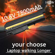 HSW 7800MAH New laptop battery for IBM T40 T41 T42 T43 R51 R52 R53 Series 08K8193 08K8195 08K8214 9cells  bateria akku