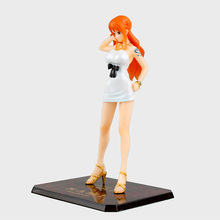 Anime Figure 16 CM One Piece Film Nami Gold Ver. Figuarts Zero White Dress PVC Action Figure Model Collectibles Toys