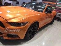 1.52x18m Hot Sale Magic Coral Orange Chrome Vinyl Car Foil Wrap