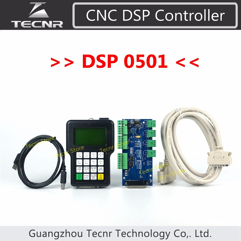 TECNR 3 axis DSP 0501 control system for CNC router handle remote English version TECNR CNC DSP Controller 1pc new cnc wireless channel for cnc router cnc machine dsp controller 0501 dsp handle english version