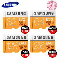 SAMSUNG Original Memory Card EVO 64GB U3 Class10 Micro Phone SD Card 32GB MicroSD UHS I