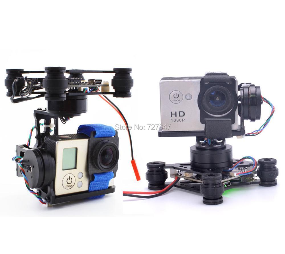 RTF 3 Axis 3Axis Brushless Gimbal 2204 2208 140kv Motor Storm32 Controlller for Gopro 3 Runcam