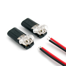 2p Spring led strip Connector 2 pin cable  wire connector Quick Connect cable clamp Terminal Block 2 Way Easy Fit for led strip free shipping 20 pcs 2 pin way spring scotch lock connector 24 18awg wire for led strip quick splice connector cable crimp