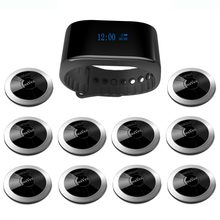 SINGCALL Wireless Calling System Restaurant Guest Paging Waiter Caller 10 Call Buttons APE310, 1 Waterproof Receiver APE6900