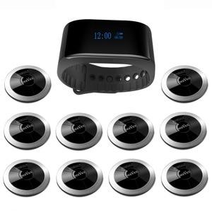 Image 1 - SINGCALL sistema de llamadas inalámbrico restaurante invitados paginación camarero llamador 10 botones de llamada de restaurante, 1 receptor impermeable APE6900