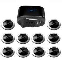 SINGCALL Wireless Calling System Restaurant Guest Paging 10 Restaurant Call Buttons 1 Wrist Watch APE6900