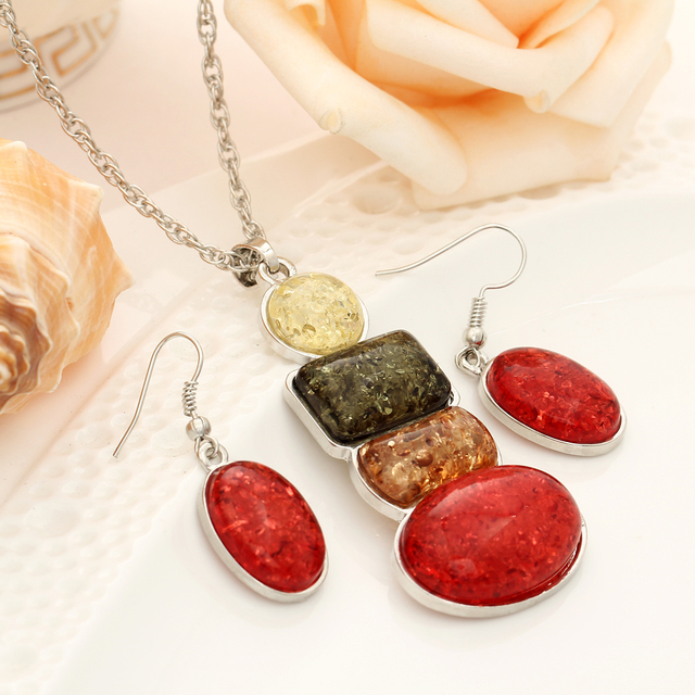 Jewelry Set Necklace and Earring African Motifs