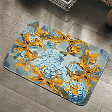 Palace style retro Carpets Hydrangea Pattern Bathroom Floor Mats Toilet Rugs Kitchen Area Rug Pads Absorbent Front Door