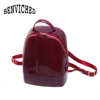 BENVICHED 2019 New Fashion Women Cute Silicone Backpack Female Travel Bags Girl School Candy Bag Lady Waterproof jelly Bag L027
