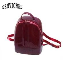 BENVICHED 2019 новые модные женские туфли Милые силиконовые рюкзак женский дорожные сумки для девочек школьная мешок конфет леди Водонепроницаемый желе мешок L027
