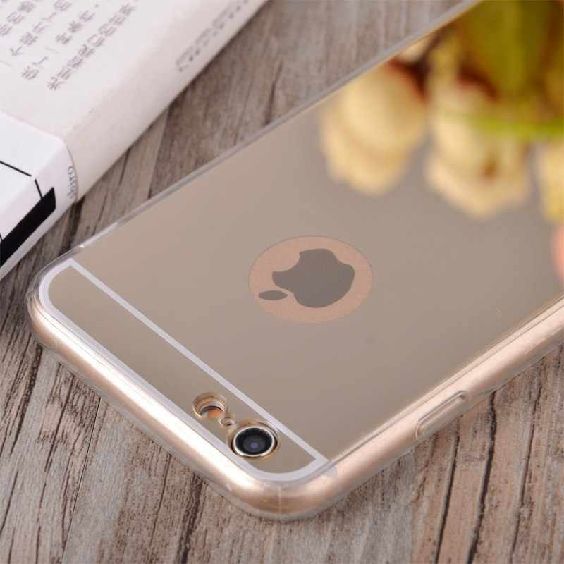 Clear Silicon Ultra Thin Soft TPU Mirror Case For 7 7Plus 8 8Plus X Transparent Phone Case For iPhone 5 5s SE 6 6s 6Plus 6sPlus