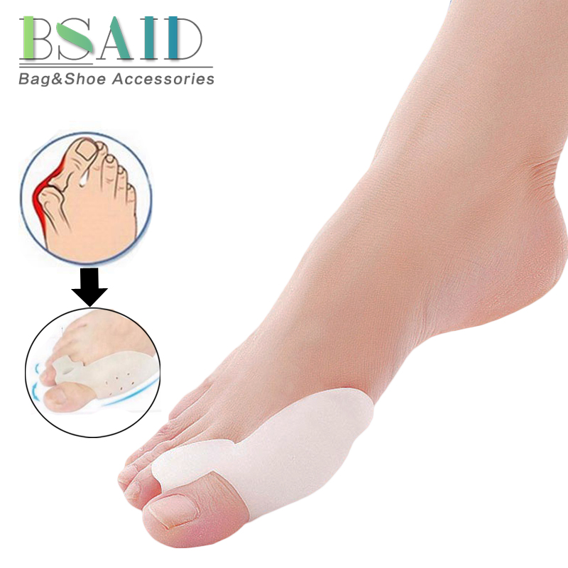 BSAID 2PCS Hallux Valgus 1Pair Device Silicone Gel Toe Separators Soft Orthotic Insole Stretchers Bunion Relief Pain Insert