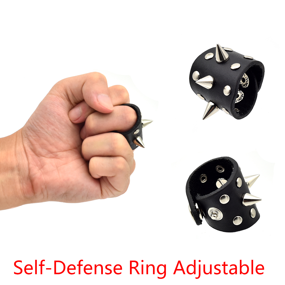 Self Defense Ring Tool Adjustalbe Defensive Finger Ring Gear Self Defense Emergency Rescue Self Tool Women Life Survival 1pcs women men safety survival ring tool edc self defence stainless steel ring finger defense ring tool silver gold black color