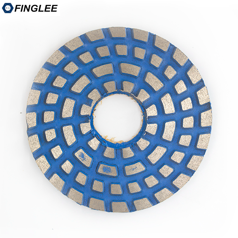 FINGLEE 3 Inch/4 inch Metal Bond Granite Polishing Pads for Grinding Conrete,Granite,Marble,Stone,Ceramic,Terrazzo