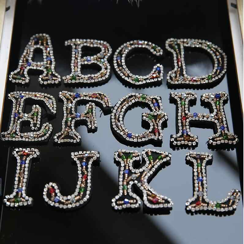26 inglese lettere In Rilievo Patch patch di paillettes abbigliamento fai da te accessori decorativi ricamo del branello del fiore di applique di patch