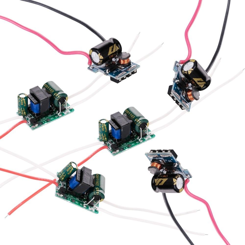 Светодиодный драйвер 3 Вт, 4 Вт, 5 Вт, 7 Вт, вход, блок питания, встроенный постоянный ток, 300 мА, трансформатор, выход 3-12 В, 12-26 в