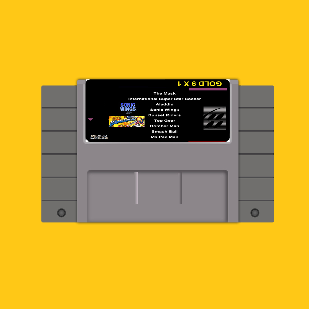 Save File Gold 9 In 1 46 Pin 16 Bit Grey Game Card For USA NTSC Game Player