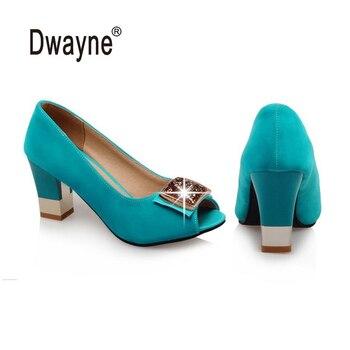 Big Size Women's Shoe 7.5cm High Heels AXIS Summer Peep Toe Pumps Party Shoes For Women Wedding Shoes DA-11