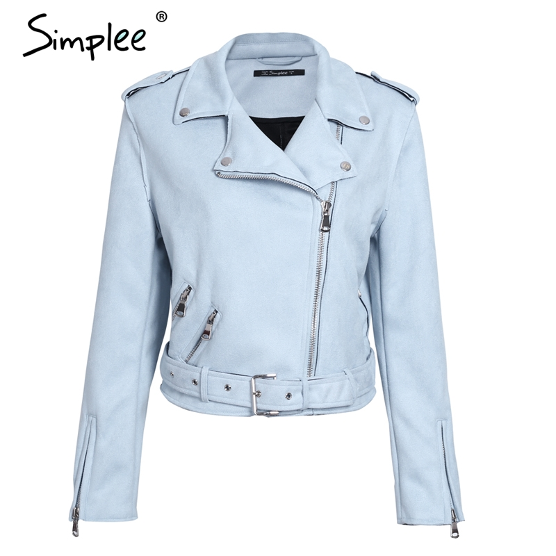 HTB1NeYvaYsTMeJjy1zbq6AhlVXaI Simplee Leather suede faux leather jacket Women zipper belt moto jacket Cool streetwear ladies' leather jackets winter coat 2017