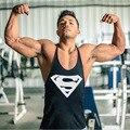 Superman Muscular Marca Sporting Academias Roupas Musculação Homens Fitness Tanque Gorila Desgaste Colete Stringer Undershirt Masculino