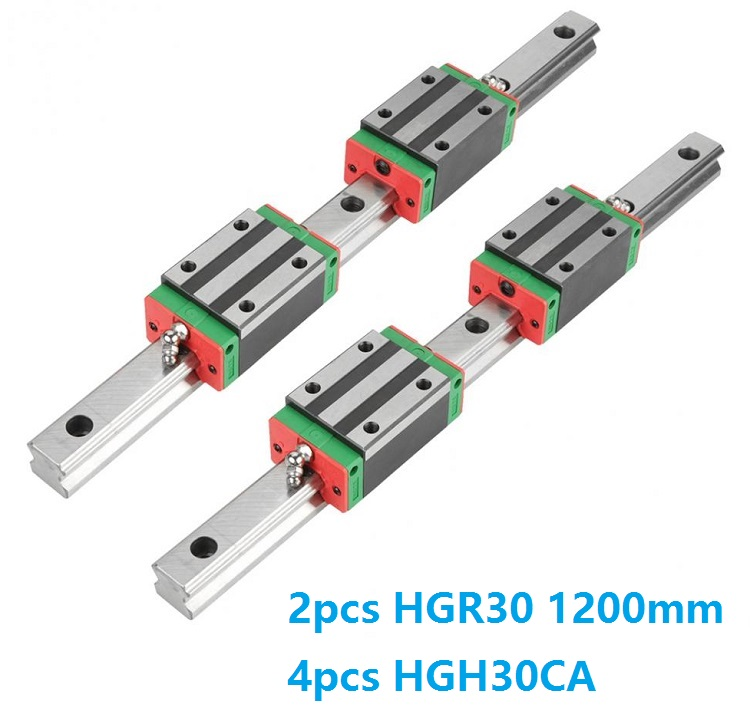 China Made 2pcs Linear Guide Rail HGR30 -L 1200MM + 4pcs HGH30CA Or HGW30CC Slide Block Carriage CNC router China Made 2pcs Linear Guide Rail HGR30 -L 1200MM + 4pcs HGH30CA Or HGW30CC Slide Block Carriage CNC router