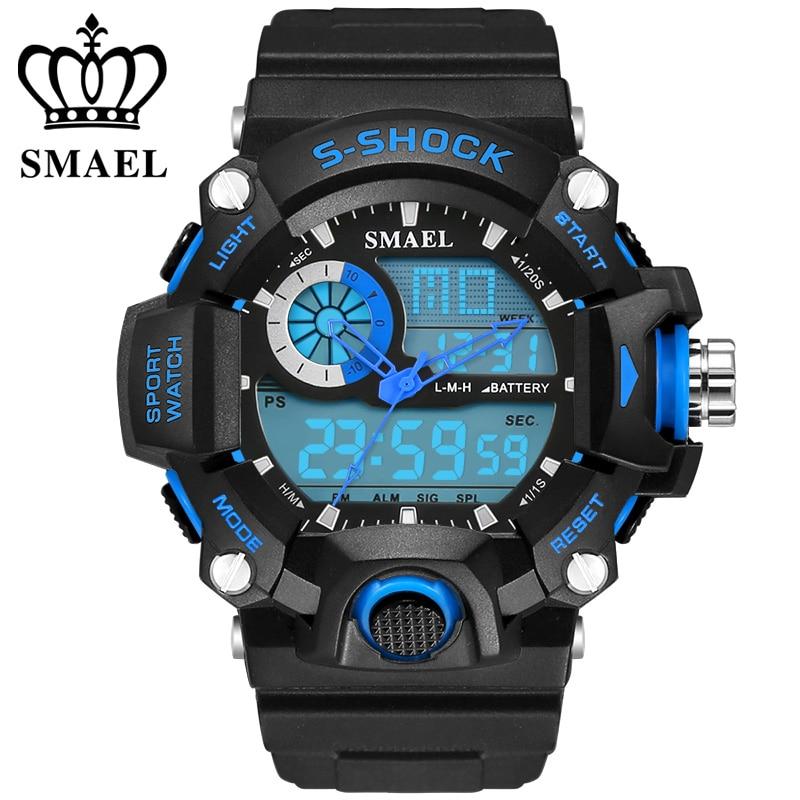Klocka SMAEL Klockor för män Quartz Digital Mode Militär Casual - Herrklockor - Foto 5